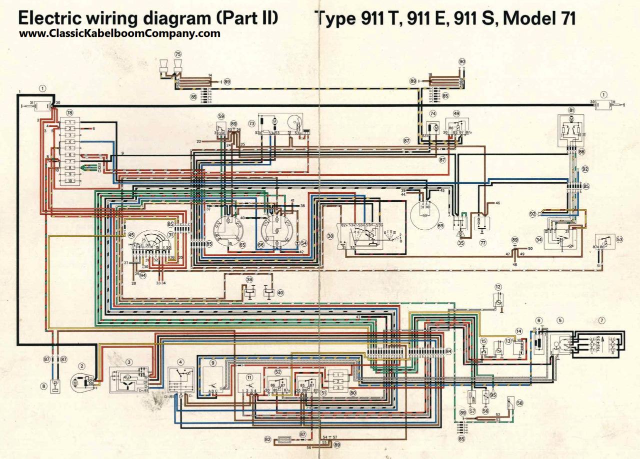 1974 Porsche 911 Engine Wiring Diagram Wiring Diagrams Database – Porsche 914 Wiring Diagram