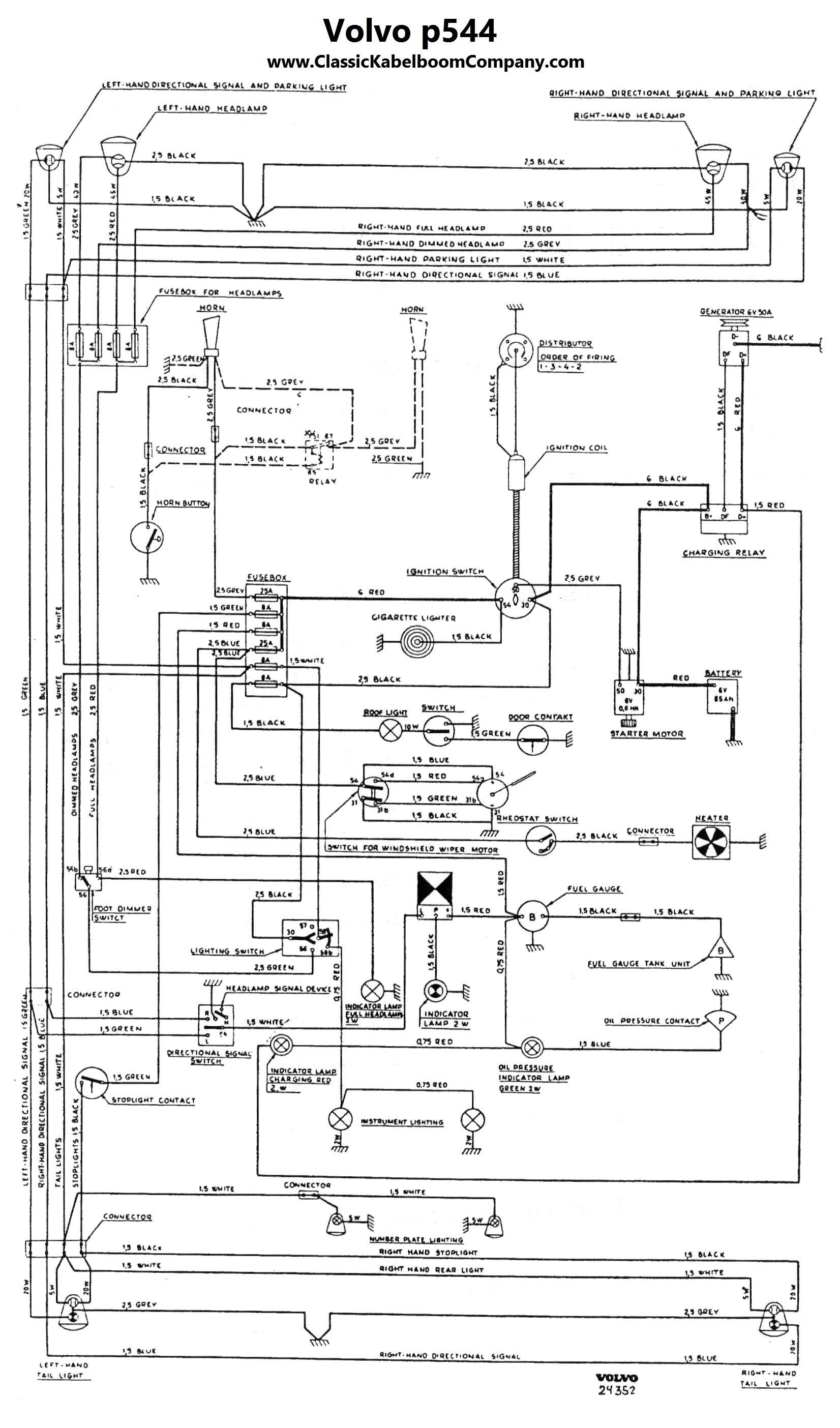 classic kabelboom company elektrisch bedrading schema volvo volvo pv544 katterug 1956 1957 1958 1959 1960 1961 1962 1963 1964 1965 electrical wiring diagram elektrisch bedrading schema