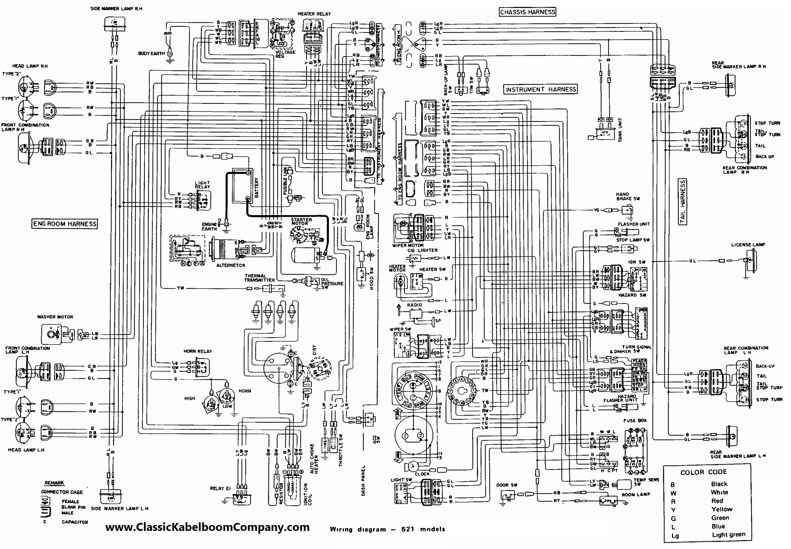 Pretty 1972 Datsun 240z Wiring Diagram Contemporary - Electrical and ...